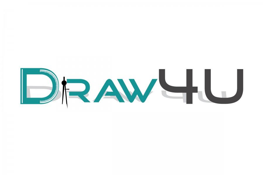Logo Draw4U - bouwkundig teken- en adviesbureau, Cabauw, Lopik, Utrecht