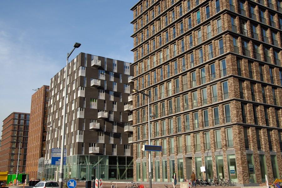 Amsterdam, De Loodsen, appartementengebouwen